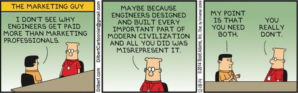 Dilbert - the marketing guy