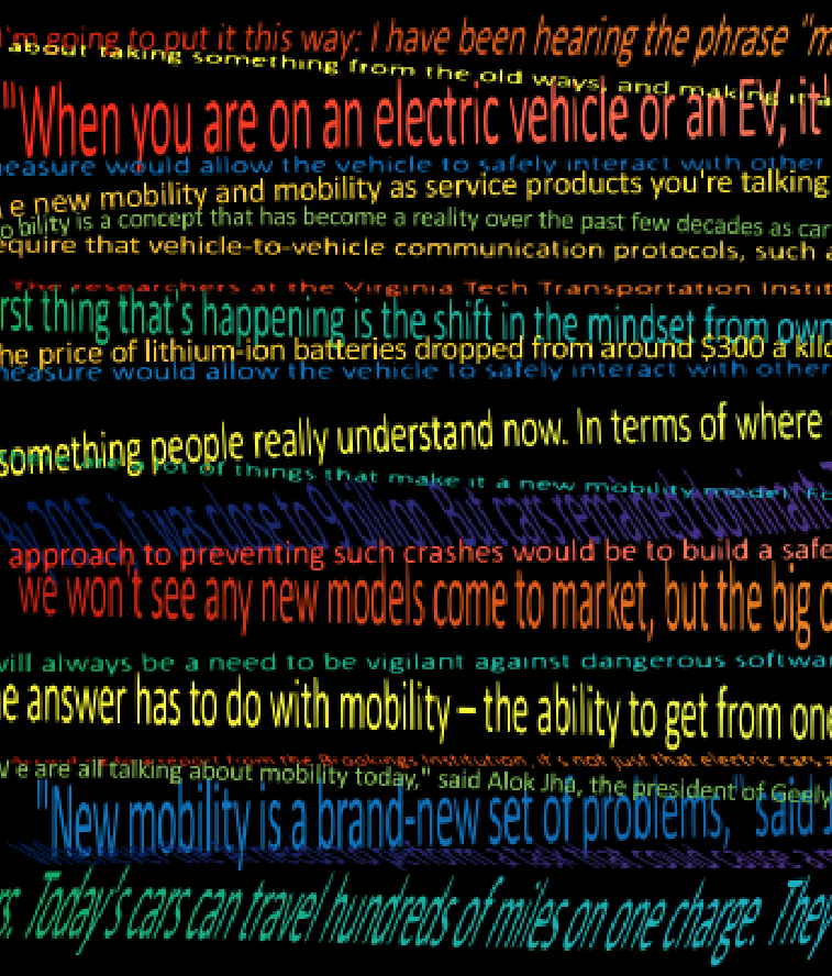 Mobility sentences different colors