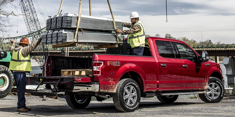 Ford F150 being showcased for construction work